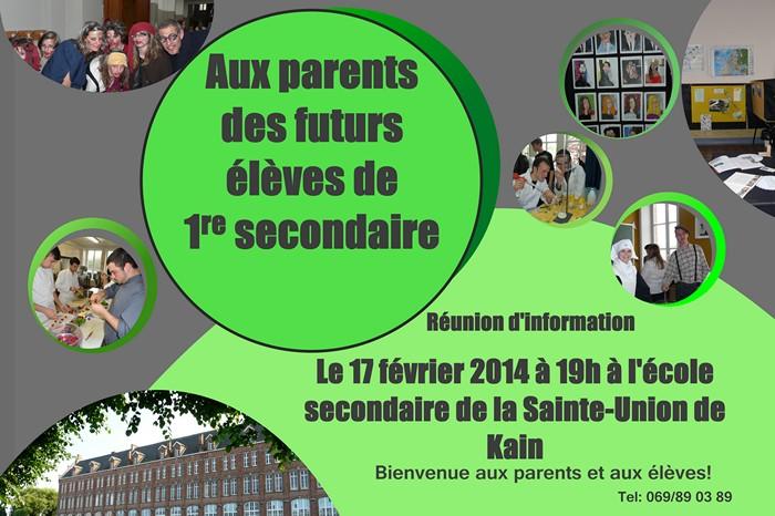 Réunion d'information 1er degré - Bienvenue aux jeunes et à leurs parents !