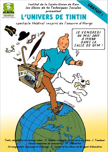 Représentation théâtrale des 4e TS : L'univers de Tintin